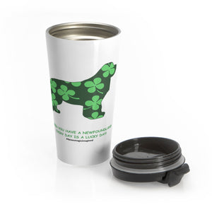 Print on Demand - Lucky newf Stainless Steel Travel Mug