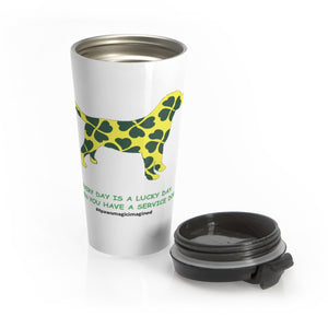 Lucky SD Lab Stainless Steel Travel Mug
