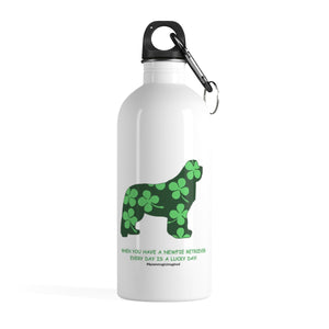 Print on Demand - Lucky Newf Ret Stainless Steel Water Bottle