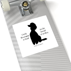 Print on Demand - Poodle In Trust Sticker