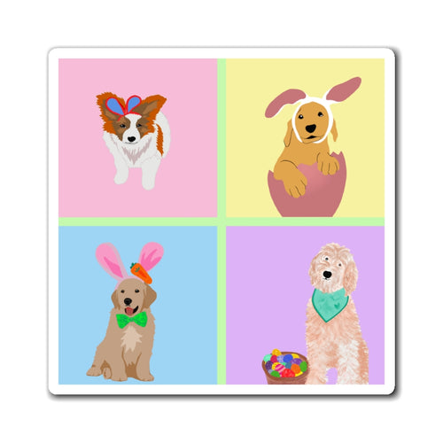 Print on Demand - Easter Pups Magnet