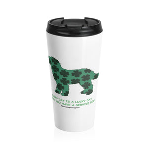 Print on Demand - Lucky SD Doodle Stainless Steel Travel Mug