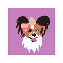 Print on Demand - 4 Paws Spunky Pap Purple Sticker