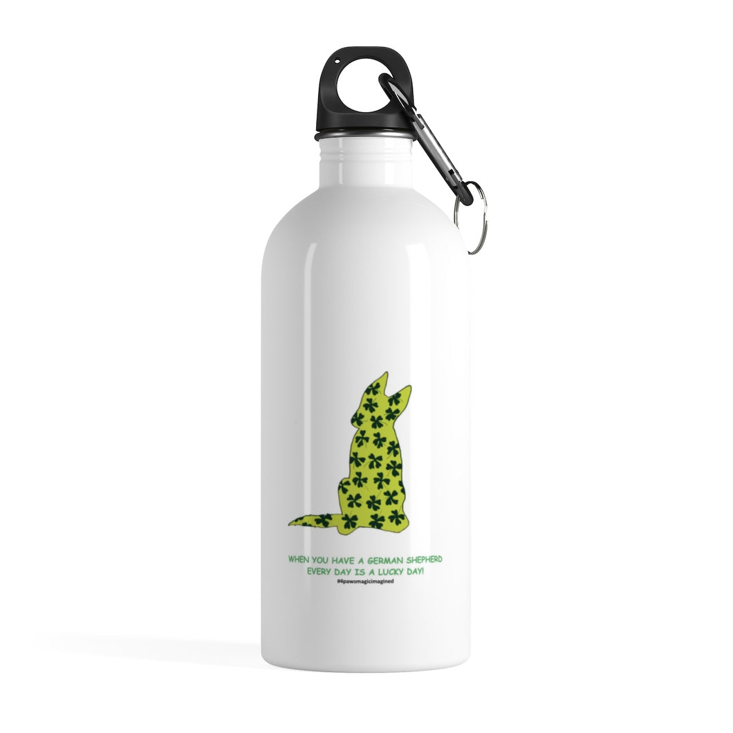 Print on Demand - Lucky GSD Stainless Steel Water Bottle