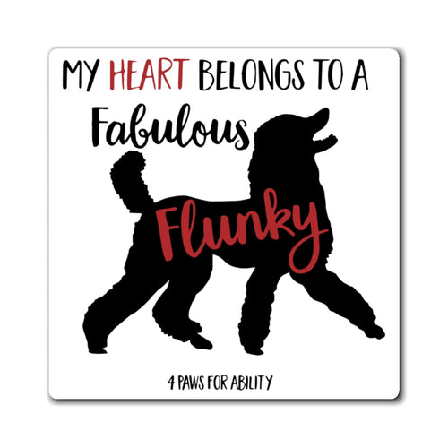 Print on Demand - Poodle Fabulous Flunky Magnet