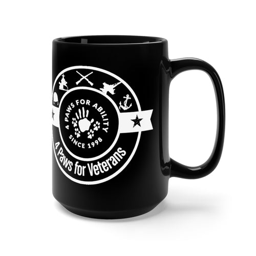 Print on Demand - 4 Paws for Veterans Black and White Mug