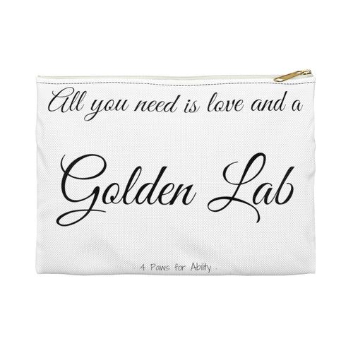 Print on Demand - Love and A Golden Lab Zipper Pouch