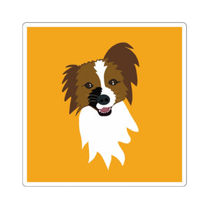 Print on Demand - 4 Paws Spunky Pap Yellow Sticker