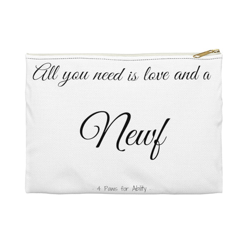 Print on Demand - Love and a Newf Zipper Pouch