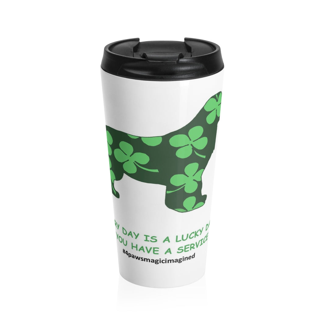 Print on Demand - Lucky SD newfie Stainless Steel Travel Mug