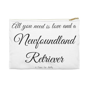 Print on Demand - Love and A Newfoundland Retriever Zipper Pouch