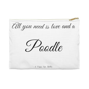 Print on Demand - Love and A Poodle Zipper Pouch