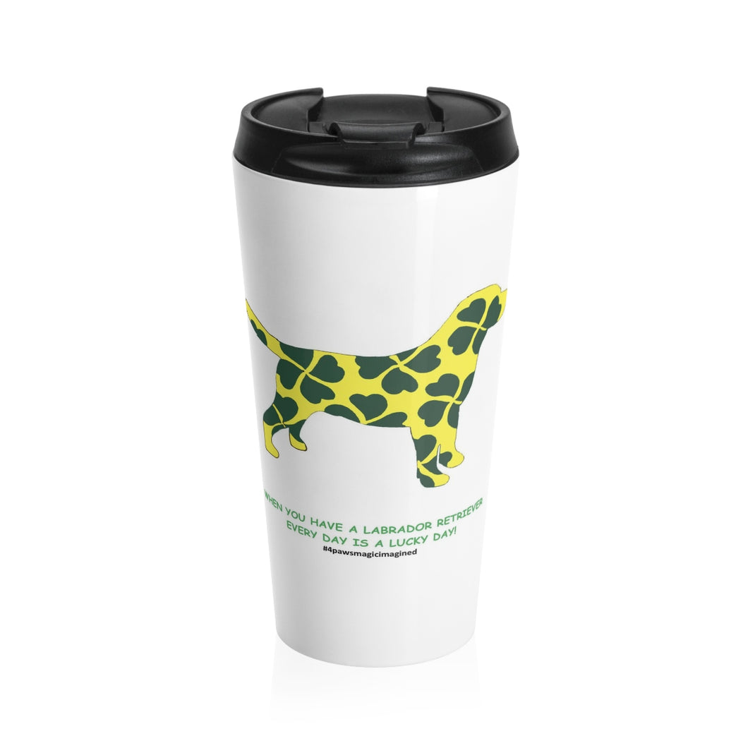 Print on Demand - Lucky Lab Stainless Steel Travel Mug