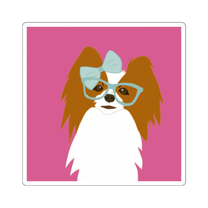 Print on Demand - 4 Paws Spunky Pap Pink Sticker