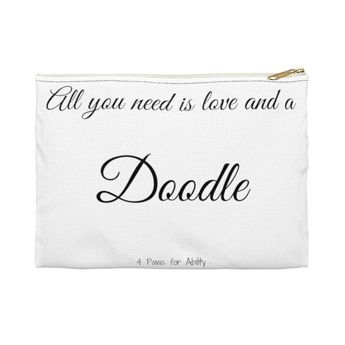 Print on Demand - Love and A Doodle Zipper Pouch