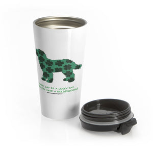 Print on Demand - Lucky Doodle Stainless Steel Travel Mug