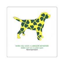 Print on Demand - Lucky Lab Square Stickers