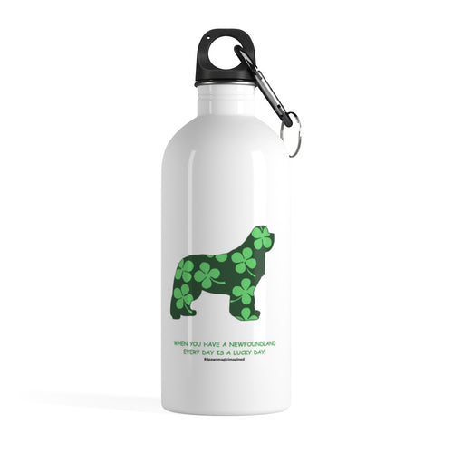 Print on Demand - Lucky newf Stainless Steel Water Bottle