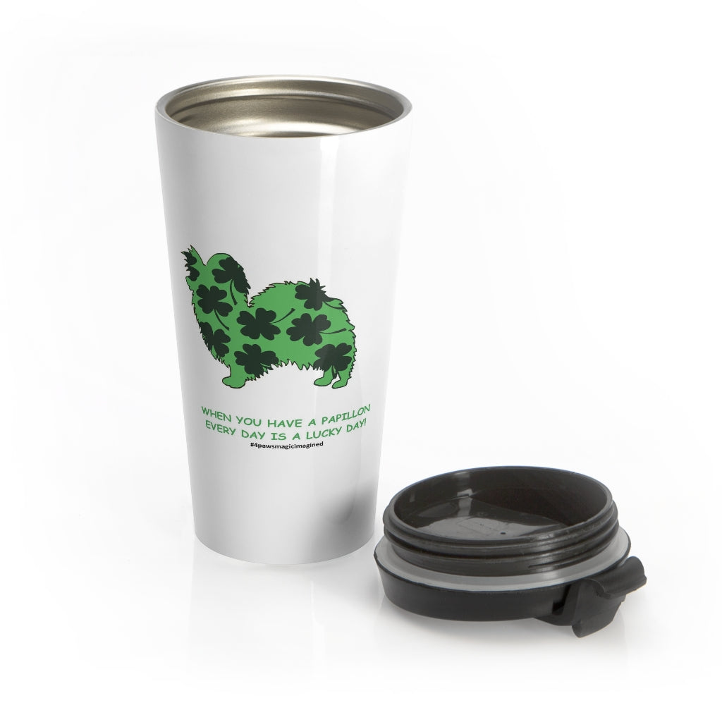 Print on Demand - Lucky pap Stainless Steel Travel Mug