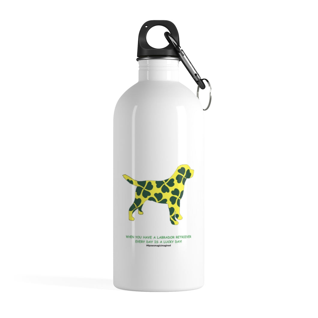 Lucky Lab Stainless Steel Water Bottle
