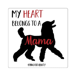 Print on Demand - Mama Poodle Sticker