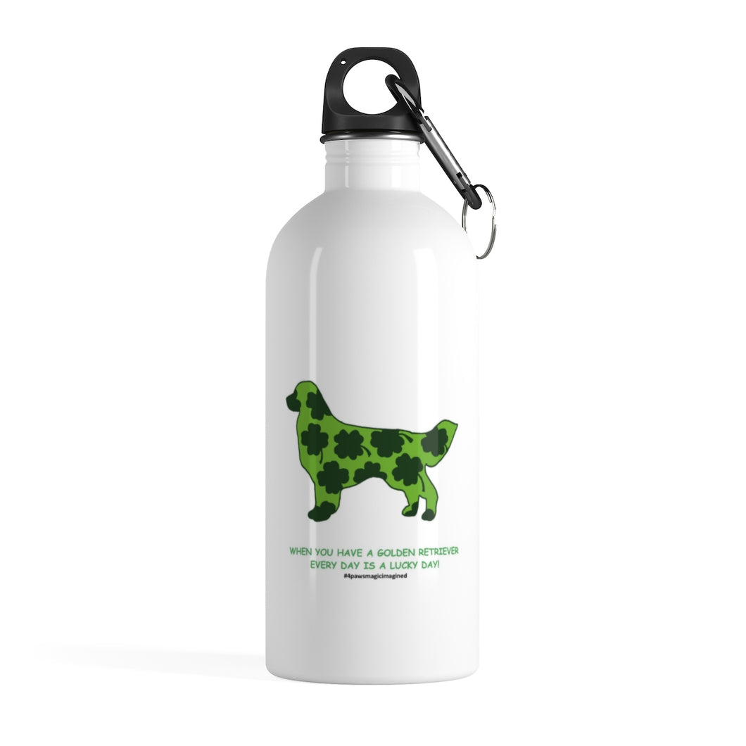 Print on Demand - Lucky Golden Stainless Steel Water Bottle