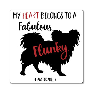 Print on Demand - Papillon Fabulous Flunky Magnet