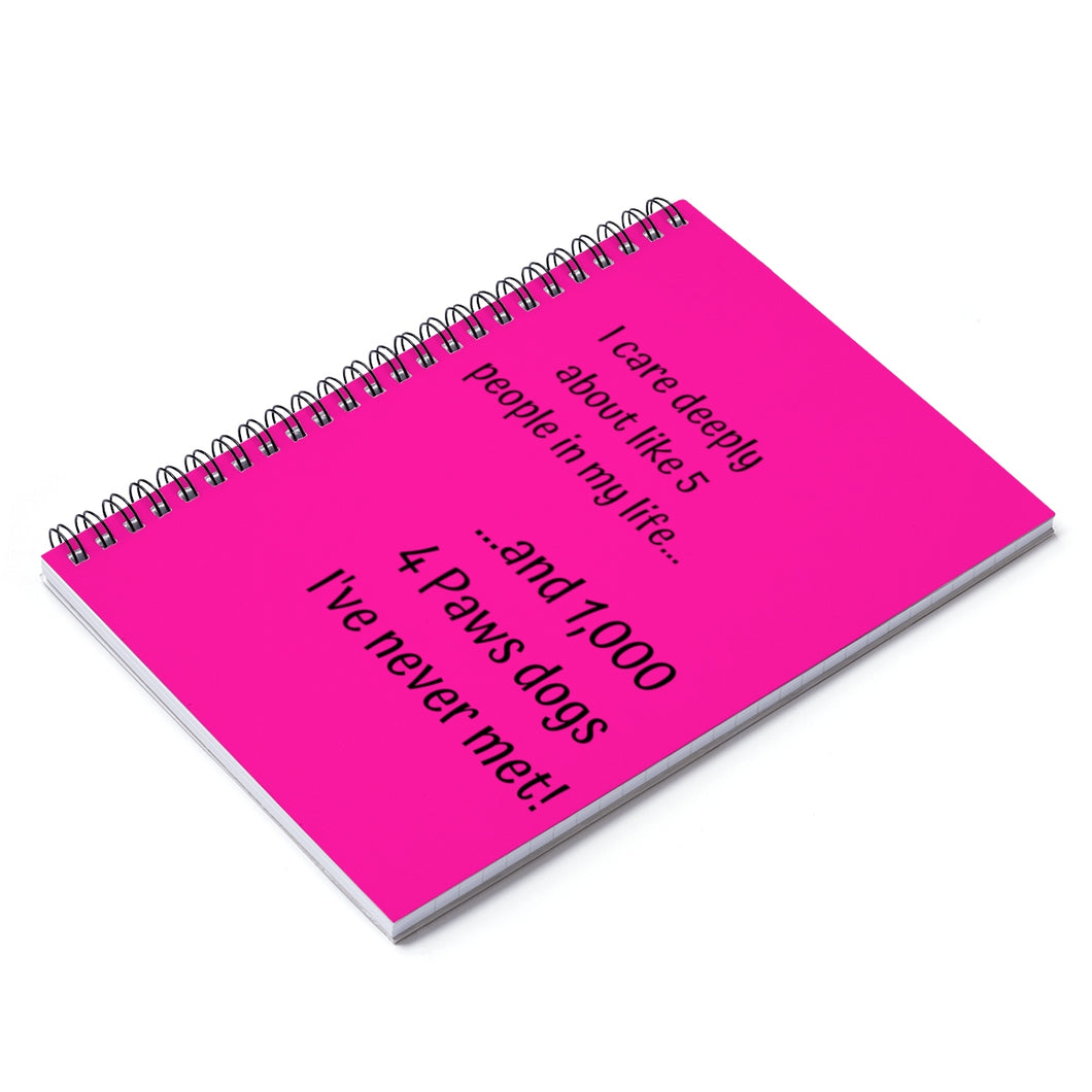 1,000 Dogs Spiral Notebook - Ruled Line