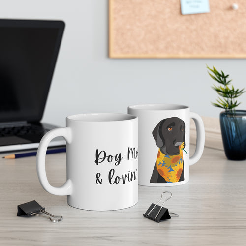 Print on Demand - Dog Mom Black Lab Mug