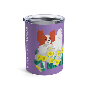 Print on Demand - Dog Mom Papillon 10oz Tumbler