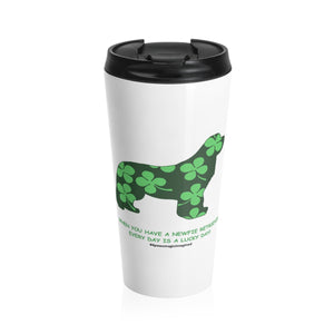 Print on Demand - Lucky Newf Ret Stainless Steel Travel Mug