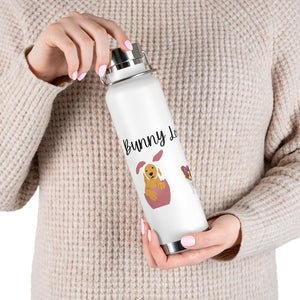 Print on Demand - Easter Pups 22oz Vacuum Insulated Bottle