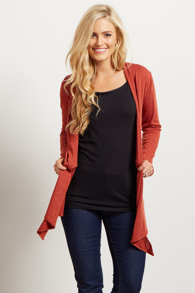 Rust Maternity Cardigan