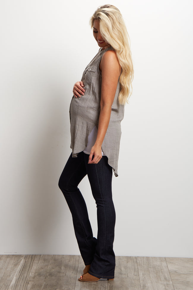Dark Wash Bootcut Maternity Jeans