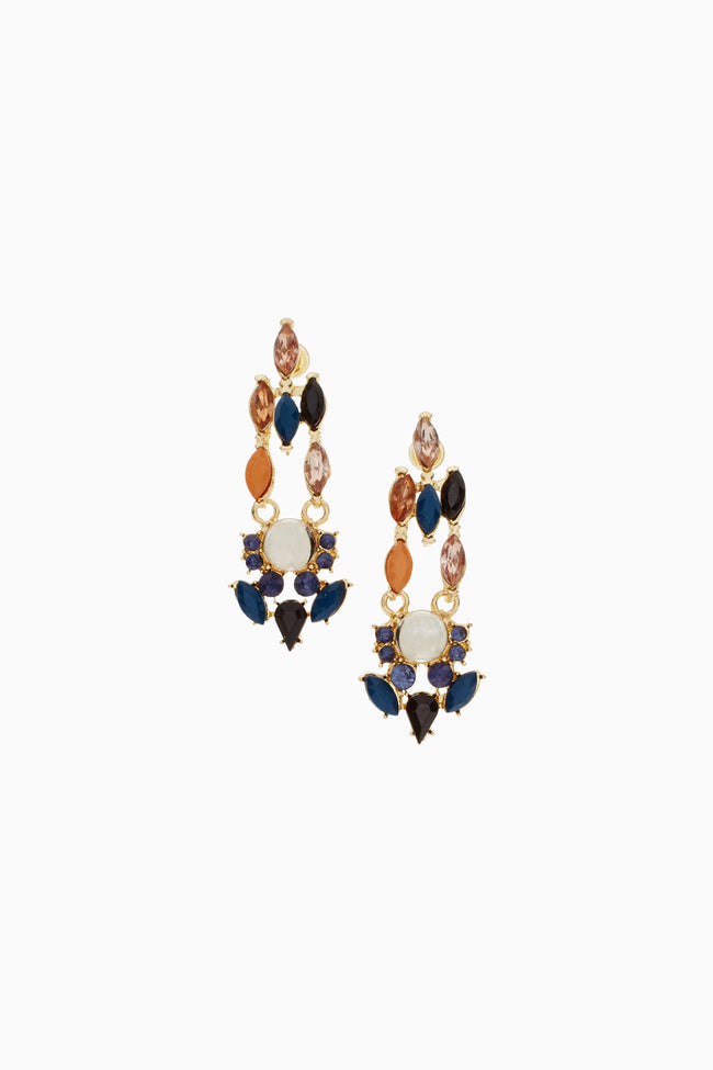 Multi-Colored Jeweled Drop Earring