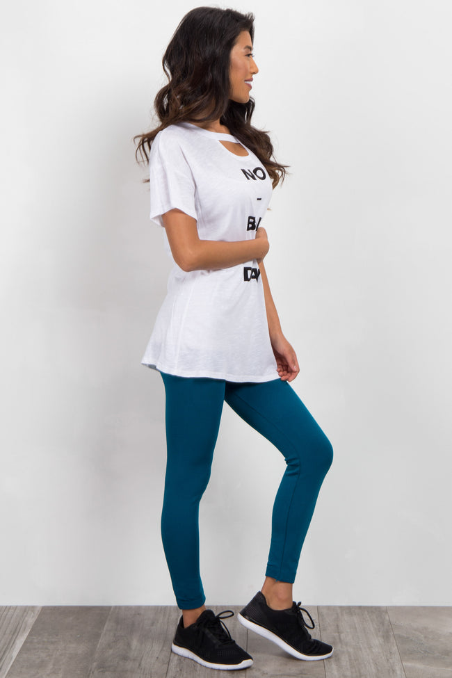 Teal Blue Leggings