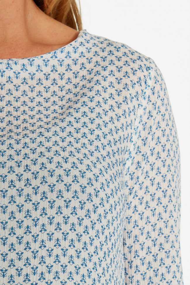Light Blue Wildflower Printed Maternity Tunic