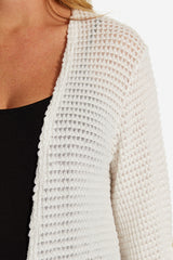 Ivory Knit 3/4 Sleeve Maternity Cardigan