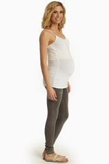 Grey Basic Maternity Skinny Jeans
