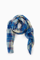 Blue Green Red Plaid Scarf