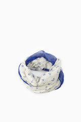 Ivory Royal Anchor Colorblock Infinity Scarf