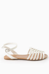 White Cutout Sandal