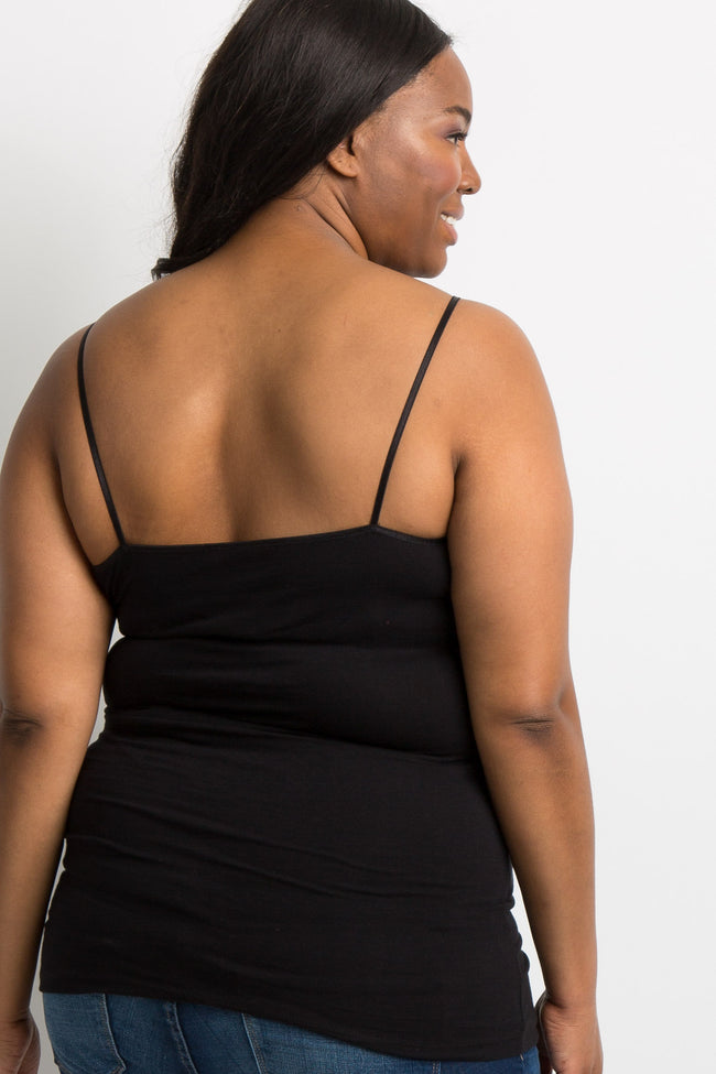 Black Plus Maternity Cami