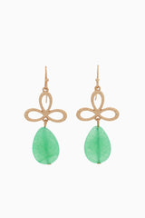 Mint Green Gold Teardrop Earring