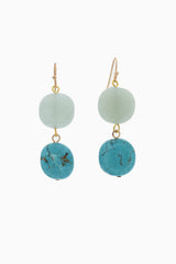 Mint Green Turquoise Stone Drop Earring