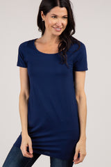 Navy Basic Short Sleeve Tee