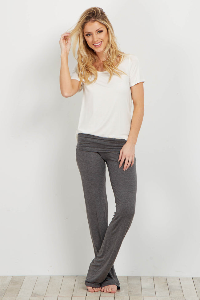 Charcoal Short Maternity Yoga Pant