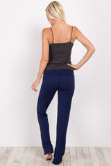 Navy Blue Short Yoga Pant