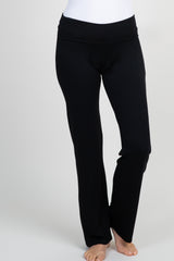 Black Short Maternity Yoga Pant