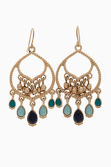 Mint Multi-Color Moroccan Drop Earring